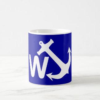 W Anchor Wanchor Joke Funny Gift Basic White Mug