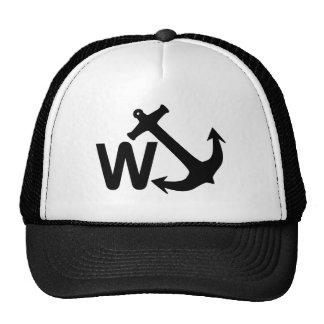 W Anchor Wanchor Joke Funny Gift Cap