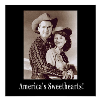 W and Laura Americas Sweethearts Poster
