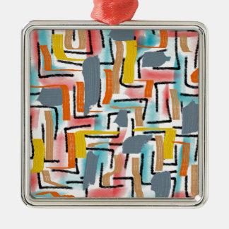 W-artistic Silver-Colored Square Decoration