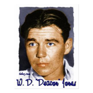 """W,D. """"Deacon"""" Jones Postcard"""