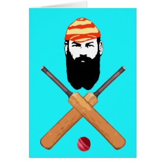 W G Grace Cricket Greeting Card
