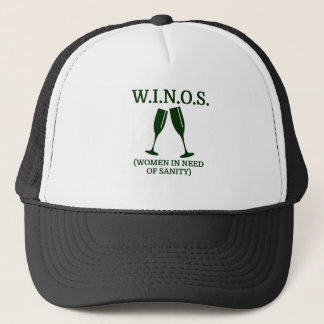W.I.N.O.S. (women in need of sanity) Trucker Hat