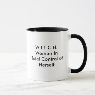 W.I.T.C.H.Woman In Total Control of Herself Mug