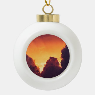 w in weather ceramic ball christmas ornament