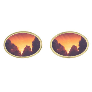 w in weather gold finish cuff links