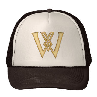 W Initial-Branded Personalised Fashion Hat