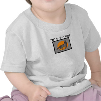 W is for Wolf kids shirts
