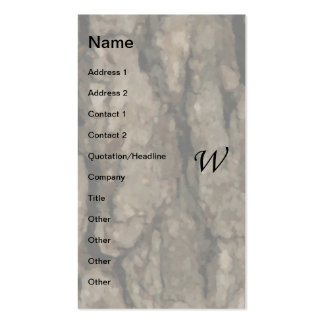 W Monogram Dark Bark1 Painterly Business Card Templates