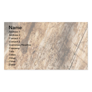 W Monogram Parchment and Dark Bark Business Card