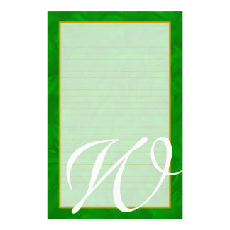 "W Monogram ""The Forest"" Fine Lined Stationery"