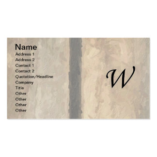 w Monogram Vertical Boards Business Card Template