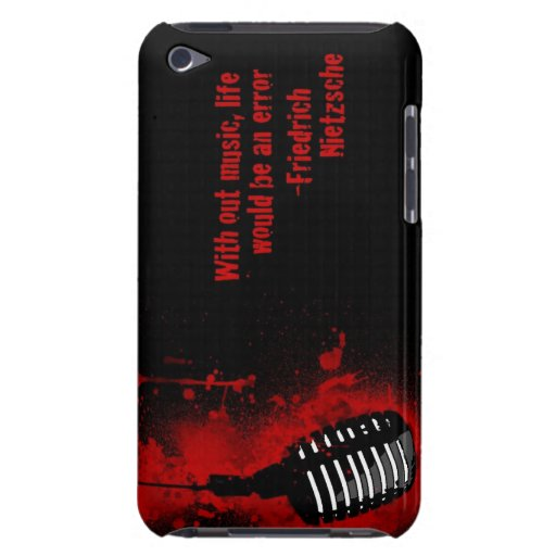w/o music life an error Nietzsche quote ipod case iPod Touch Cover