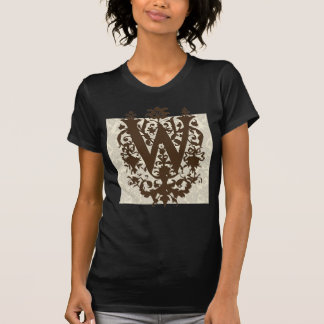 W - Ornate Baroque Monogram T-Shirt