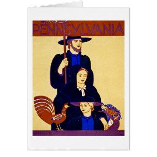 W.P.A. Pennsylvania Travel Poster Vintage Card