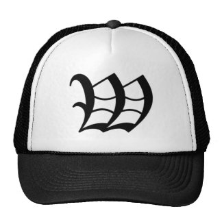 W-text Old English Mesh Hats
