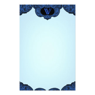 W - The Falck Alphabet (Blue) Personalised Stationery