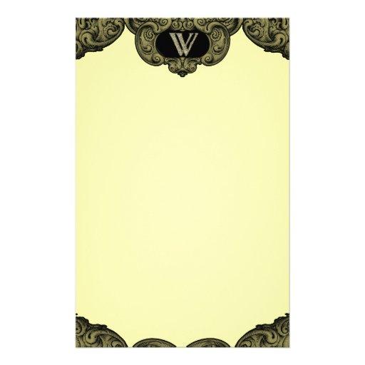 W - The Falck Alphabet (Golden) Customized Stationery