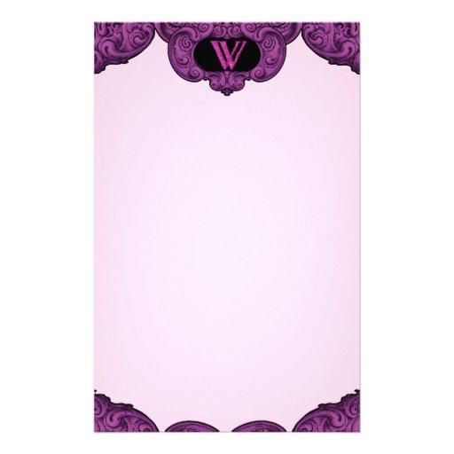 W - The Falck Alphabet (Pink) Stationery Design