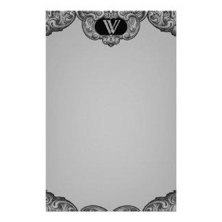 W - The Falck Alphabet (Silvery) Stationery Design