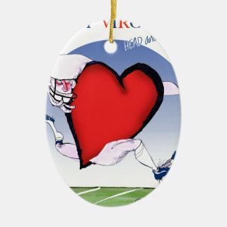 w virginia head heart, tony fernandes ceramic oval decoration