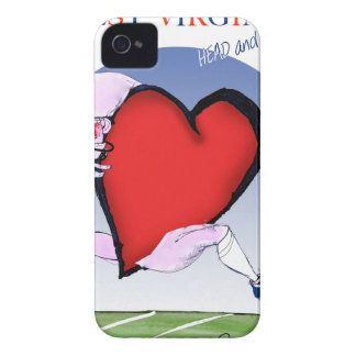 w virginia head heart, tony fernandes iPhone 4 case
