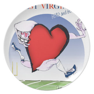w virginia head heart, tony fernandes plate