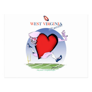w virginia head heart, tony fernandes postcard