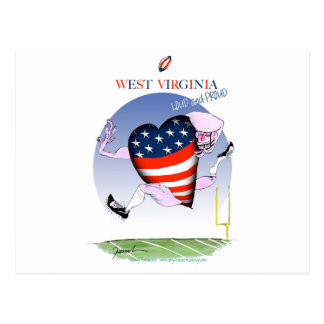 w virginia loud and proud,tony fernandes postcard