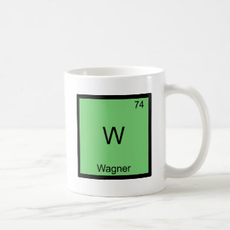 W - Wagner Funny Chemistry Element Symbol T-Shirt Coffee Mug