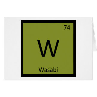W - Wasabi Chemistry Periodic Table Symbol Card