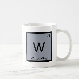 W - Waterskiing Sports Chemistry Periodic Table Coffee Mug