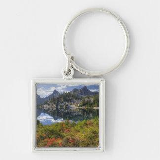 WA, Alpine Lakes Wilderness, Gem Lake, with Key Chain