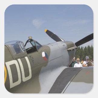 WA, Arlington, Arlington Fly-in, World War II 6 Square Sticker