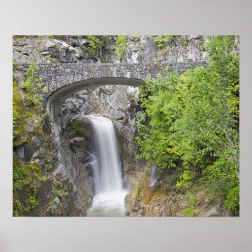 WA, Mount Rainier National Park, Christine Falls Posters