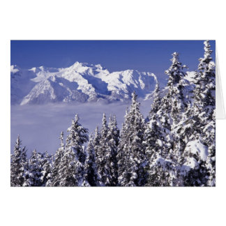 WA, Olympic NP, Olympic Mountain Range, view Card
