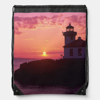 WA, San Juan Island, Lime Kiln Lighthouse, 1919, Drawstring Backpacks