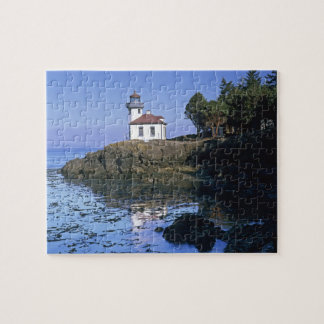 WA, San Juan Island, Lime Kiln lighthouse Jigsaw Puzzle