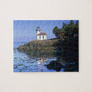 WA, San Juan Island, Lime Kiln lighthouse Jigsaw Puzzle