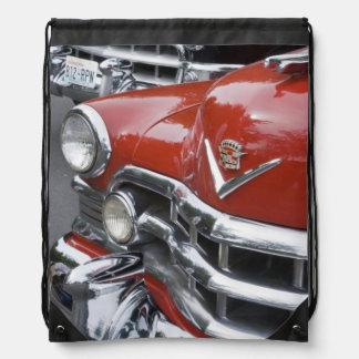 WA, Seattle, classic American automobile. Drawstring Backpacks