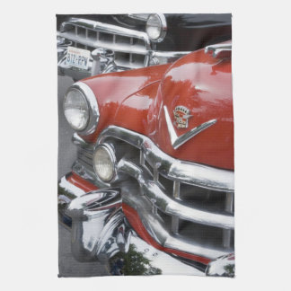 WA, Seattle, classic American automobile. Tea Towel