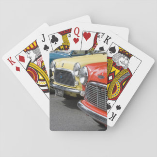 WA, Seattle, classic British automobile. Poker Deck