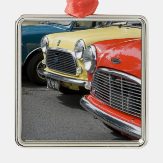 WA, Seattle, classic British automobile. Silver-Colored Square Decoration