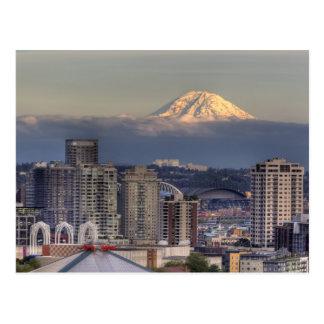 WA, Seattle, Mount Rainier from Kerry Park Postcard