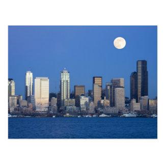 WA, Seattle, Seattle skyline and Elliott Bay 2 Postcard