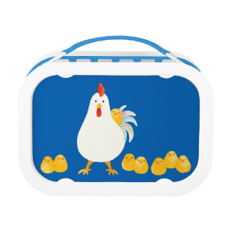 < wa taking and chick (water color) > A chicken Lunch Box