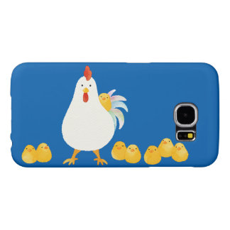 < wa taking and chick (water color) > A chicken Samsung Galaxy S6 Cases