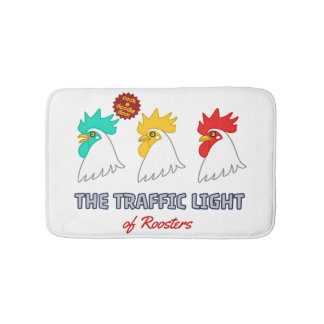 < wa taking signal > The traffic light of roosters Bath Mat