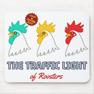 < wa taking signal > The traffic light of roosters Mouse Pad