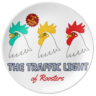 < wa taking signal > The traffic light of roosters Plate